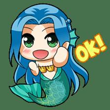 Naoki, little cute mermaid girl sticker #2544613