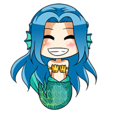 Naoki, little cute mermaid girl sticker #2544618