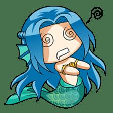 Naoki, little cute mermaid girl sticker #2544619
