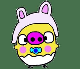 Pig chick sticker #2550534