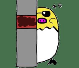 Pig chick sticker #2550537