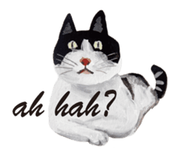 Cats, nothing special, in English sticker #2560373