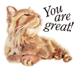 Cats, nothing special, in English sticker #2560377