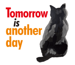 Cats, nothing special, in English sticker #2560396