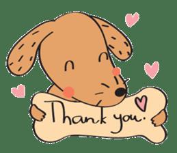 Lucky Happy dog sticker #2563888