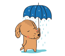 Lucky Happy dog sticker #2563891