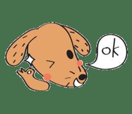 Lucky Happy dog sticker #2563895