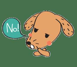 Lucky Happy dog sticker #2563896