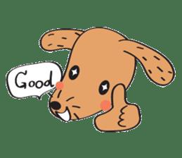 Lucky Happy dog sticker #2563897