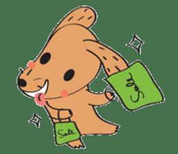 Lucky Happy dog sticker #2563904