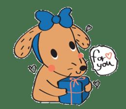 Lucky Happy dog sticker #2563905