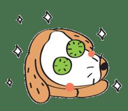 Lucky Happy dog sticker #2563907