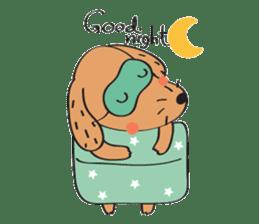 Lucky Happy dog sticker #2563908