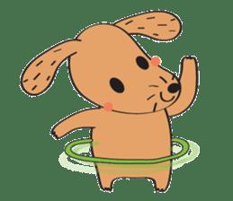 Lucky Happy dog sticker #2563910
