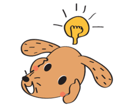 Lucky Happy dog sticker #2563911