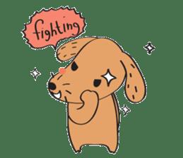 Lucky Happy dog sticker #2563914