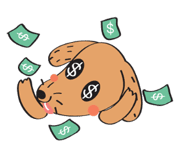 Lucky Happy dog sticker #2563919