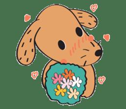 Lucky Happy dog sticker #2563921