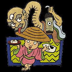 สติ๊กเกอร์ไลน์ Spooky Japanese Mononoke Stickers