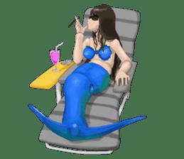 Mermaid doll Momo-chan sticker #2565299