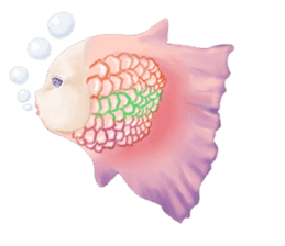Mermaid doll Momo-chan sticker #2565308