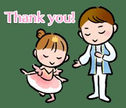 Ballet boy and girl!  Petit Ballerina2 sticker #2566740