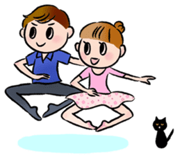 Ballet boy and girl!  Petit Ballerina2 sticker #2566771