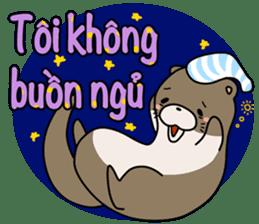 A liar Otter(Vietnamese) sticker #2567213