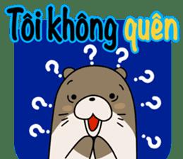 A liar Otter(Vietnamese) sticker #2567223