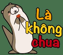 A liar Otter(Vietnamese) sticker #2567227