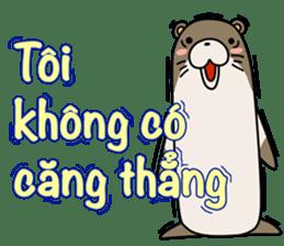 A liar Otter(Vietnamese) sticker #2567234