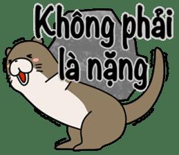 A liar Otter(Vietnamese) sticker #2567236