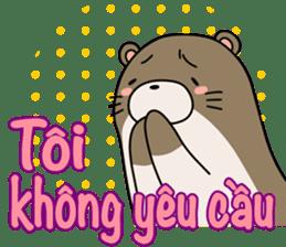 A liar Otter(Vietnamese) sticker #2567237