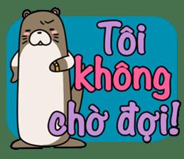 A liar Otter(Vietnamese) sticker #2567243