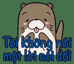 A liar Otter(Vietnamese) sticker #2567252