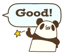 A balloon and a panda(English) sticker #2569409