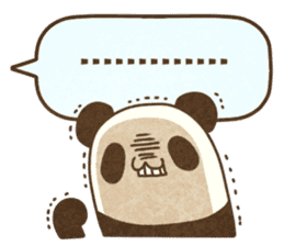 A balloon and a panda(English) sticker #2569420