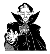 Dracula the celebrity life sticker #2570168
