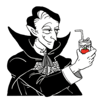 Dracula the celebrity life sticker #2570173