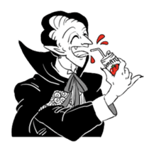 Dracula the celebrity life sticker #2570174