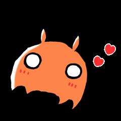 Deep sea fish sticker