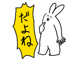 response rabbit sticker #2578505