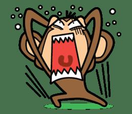 Funny monkey 2 sticker #2587448