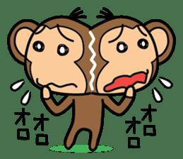 Funny monkey 2 sticker #2587450