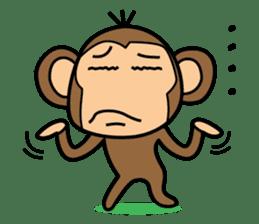 Funny monkey 2 sticker #2587451