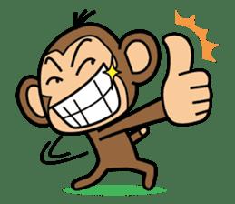 Funny monkey 2 sticker #2587455