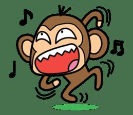 Funny monkey 2 sticker #2587456