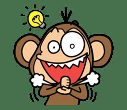Funny monkey 2 sticker #2587460