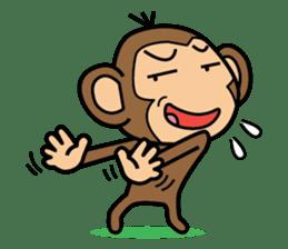 Funny monkey 2 sticker #2587463