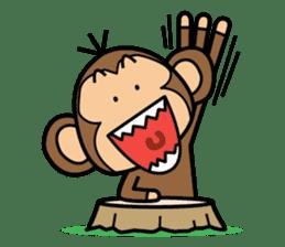 Funny monkey 2 sticker #2587465